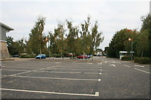 SP2806 : Carterton Co Op car park by andrew auger