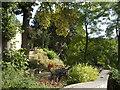 NZ1416 : Winston Vicarage, patio & garden by Stanley Howe