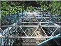 NZ0416 : Deepdale Aqueduct under Repair by Chris Heaton