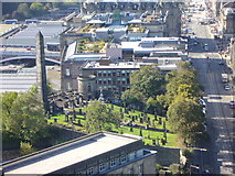 NT2674 : Nelson Monument view of Old Calton Burying Ground by kim traynor