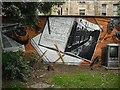 NS5766 : Mural, Kelvingrove Park. 15 - Trains by Richard Webb