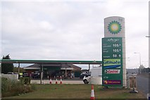 TR0862 : BP Petrol Station beside the A299 Thanet Way by David Anstiss