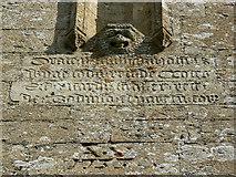 SO9700 : Inscription, St Matthew's church, Coates by Brian Robert Marshall