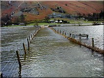 NY3916 : Footpath closed! to Side Farm by P Leedell