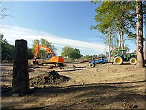 NZ1265 : Construction of new golf course, Close House by Andrew Curtis