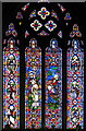 TG3903 : St Botolph's church - east window by Evelyn Simak