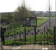 TQ7768 : Entrance to Hillyfields Community Park, Parr Avenue by N Chadwick
