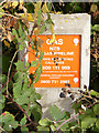 TG0524 : Gas pipeline marker on Reepham Road by Adrian Cable