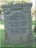 ST8992 : Broom gravestone at St Mary's Tetbury. by Paul Best