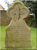 ST8992 : John Dickenson gravestone at St Mary's Tetbury. by Paul Best