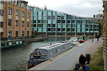 TQ3283 : Looking west towards City Road Basin, Regents Canal, Islington by Andy F