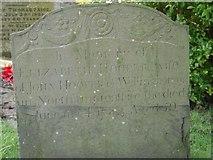 ST8992 : Elizabeth Hooper gravestone St Mary's Tetbury. by Paul Best