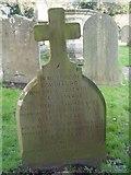 ST8992 : Henry Thomas Long gravestone St Mary's Tetbury. by Paul Best