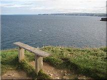 SW9781 : Bench on Kellan Head by Philip Halling