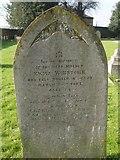 ST8992 : Winstone family gravestone St Mary's Tetbury by Paul Best