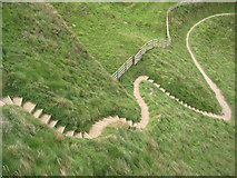 SW9781 : The South West Coast Path on Scarnor Point by Philip Halling