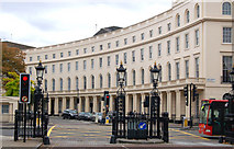 TQ2882 : The west curve of Park Crescent, London by Andy F
