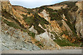 SM8422 : Eroded cliff face, Pwll March, Newgale by Andy F