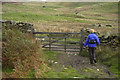 NY4601 : Gate on footpath from Kentmere to Longsleddale by Tom Richardson