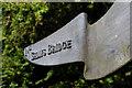 J3369 : National cycle network sign, Lagan towpath (1) by Albert Bridge