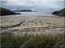 SW9379 : Pentireglaze Haven and Padstow Bay by Philip Halling