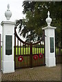 SP7812 : War Memorial Gateway , Stone by Graham Hale