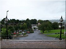 J4844 : View from the main door of St Patrick's RC Church, Downpatrick by Eric Jones