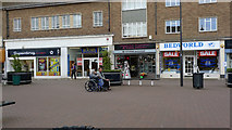 SP8733 : Elizabeth Square Shops, Bletchley by Cameraman