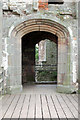 SO4108 : Entrance to the Great Tower at Raglan Castle by Andy F