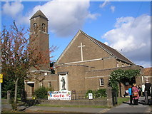 TQ1665 : St. Christopher's Church, Hinchley Wood by Dr Neil Clifton