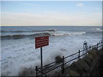 TA0487 : Warning sign at South Bay by John S Turner