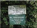 TQ2861 : Surrey County Council sign by JOHN PARKIN