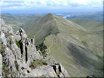 NY3415 : Catstye Cam from Swirral Edge by P Leedell
