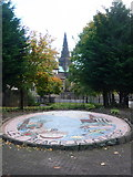 NS6065 : Glasgow: a mosaic mural in Cathedral Square by Chris Downer