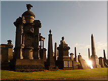 NS6065 : Glasgow: memorials big and small by Chris Downer