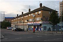 TQ2387 : Shops on Claremont Way by Martin Addison