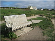 SW8574 : Seat overlooking Treyarnon Bay by Philip Halling