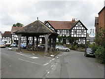 SO3958 : Pembridge - Market Hall & The New Inn by Peter Whatley