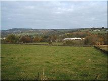 SK3359 : Grazing land and Matlock Garden Centre by Peter Barr