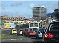 NZ2563 : Sunday traffic, Gateshead by Pauline E