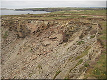 SW8471 : Cliff erosion by Philip Halling