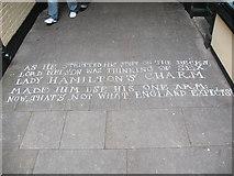 TQ3877 : Bawdy verse in Greenwich  market (1) by Stephen Craven