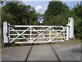 TF9919 : Level crossing gates at Worthing by John Wernham