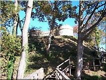 SH6179 : Castell Aberlleiniog from the moat bridge by Eric Jones