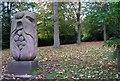 NZ2561 : Foliate Carving, Saltwell Park, Gateshead by hayley green