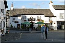 SD3598 : Kings Arms Hotel, Hawkshead by Peter Trimming