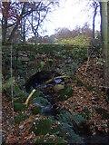 SE0614 : Stone bridge at Clough House, Slaithwaite by Pamela Norrington