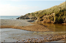 SW5842 : Shingle bar at the mouth of the Red River, Godrevy by Andy F