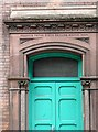 NY4055 : Detail of door by Rose and Trev Clough
