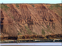 TA1281 : Clay Cliffs on Headland to Filey Brigg by Andy Beecroft